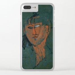 Amadeo Modigliani / Tête rouge - 1915 Clear iPhone Case