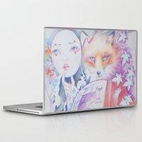 kitsune Laptop & iPad Skins featuring kitsune kitsune by Eszter Nagy