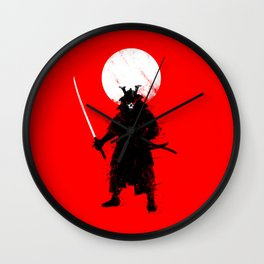 Ghost Samurai Wall Clock