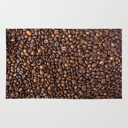 Coffee beans pattern Rug