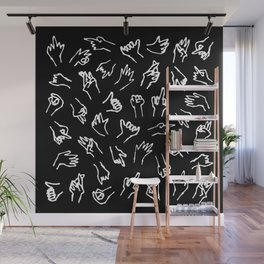 Bad Hands (Black) Wall Mural