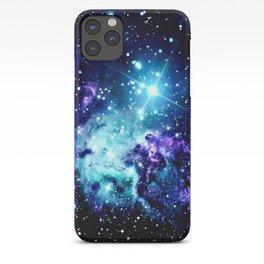 Fox Fur Nebula Turquoise Blue Purple Black iPhone Case