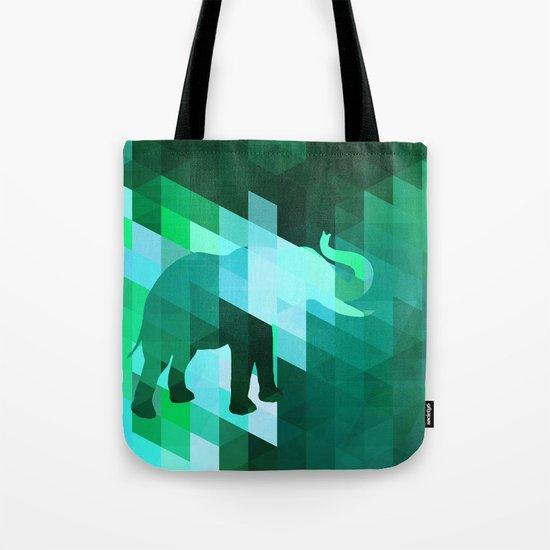 Emerald Elephant Tote Bag
