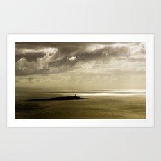 Dusk at Pladda Island Art Print