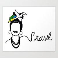 brasil Art Prints featuring Brasil by andiroses