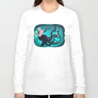 ursula Long Sleeve T-shirts featuring Ursula by Jehzbell Black