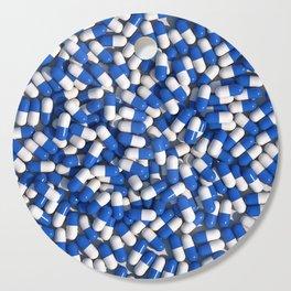 White Blue Akira Pills Cutting Board