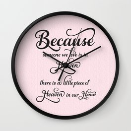 Heaven in Our Home Wall Clock