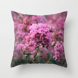 Playful Hot Pinks Throw Pillow