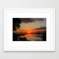 swedish Framed Art Prints featuring Swedish Harbor by Dawin
