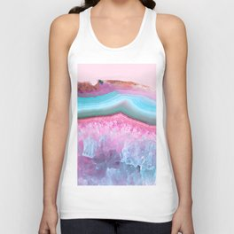 Rose Quartz and Serenity Agate Unisex Tank Top