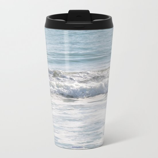 TEXTURES -- Surf   at San Clemente Metal Travel Mug