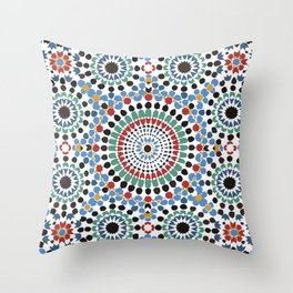 Moroccan Tiles Throw Pillow