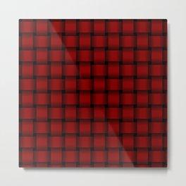 Dark Red Weave Metal Print