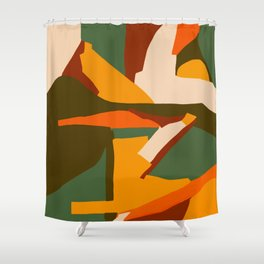 A New Way Of Seeing Abstract Landscape Shower Curtain
