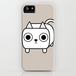 Cat Loaf - White Kitty iPhone Case