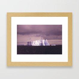 iceberg adrift Framed Art Print