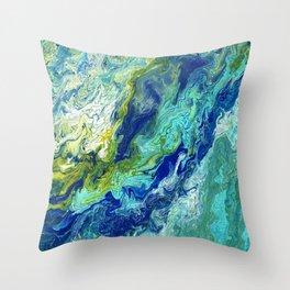 Bubbling Brook Throw Pillow