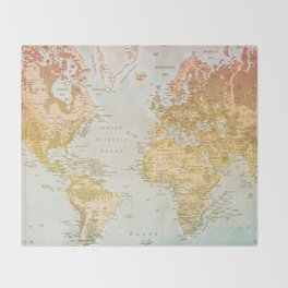 Pastel World Throw Blanket