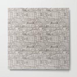 Urbana Ivory & Charcoal Metal Print