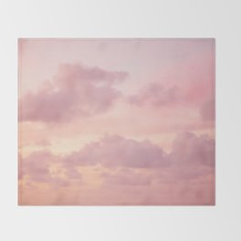 Pink Clouds Throw Blanket