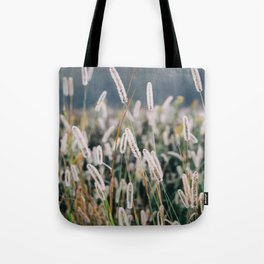 Whimsical Tall Grass Nature Field Landscape Photo Tote Bag