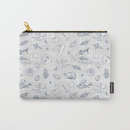 The sea messenger / Pearl grey Carry-All Pouch