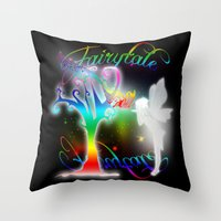 fairytale Throw Pillows featuring Fairytale by Augustinet