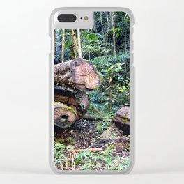 Chopped Trees Clear iPhone Case