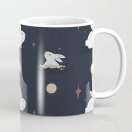 Bunnies on the Moon (Patterns Please) Coffee Mug