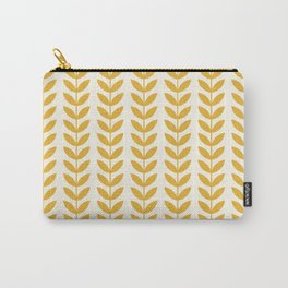 Scandinavian Mid Century Pattern Yellow Carry-All Pouch