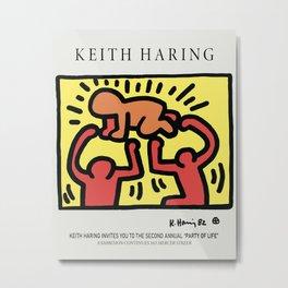The Birth - Keith Art, Exhibition Poster, Japan Vintage Print Metal Print