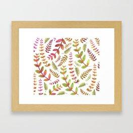 Fall Changing Leaves Framed Art Print