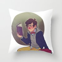 preppy Throw Pillows featuring preppy dipper by monsternist