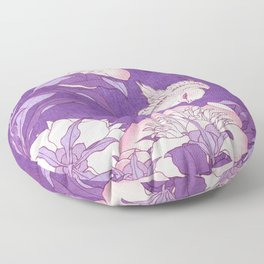 Japanese FLowers Purple Pink Floor Pillow