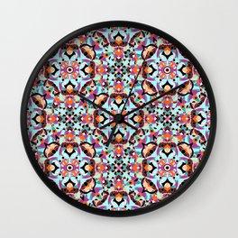 Flower mosaic Wall Clock