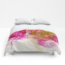 Magenta and Gold #1 Comforters