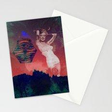 False Colored Eyes Stationery Cards
