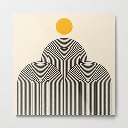 Abstraction_NEW_SUN_LINE_POP_ART_Minimalism_033BS Metal Print