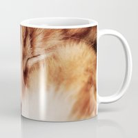 garfield Mugs featuring Garfield Sleeps by Rachel's Pet Portraits