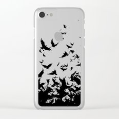 An Unkindness of Ravens (Grey) Clear iPhone Case