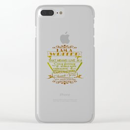 A Writer's World Clear iPhone Case