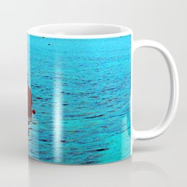 Relaxing in Tropical Paradise at End of Day Coffee Mug