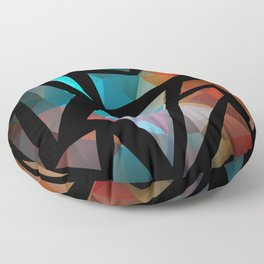 Abstract background of triangles polygon print. Floor Pillow