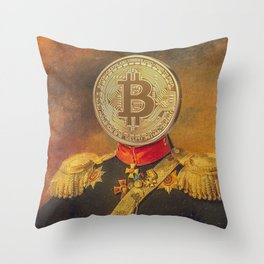 "Bit Coin Fanatic General | ""So Let Me Tell You About My Coin Base"" Throw Pillow"