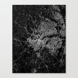 Fort Worth map Canvas Print