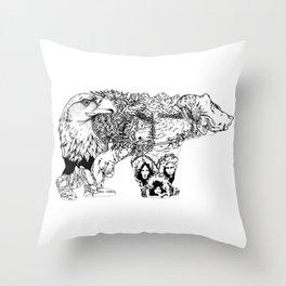 ALASKA Throw Pillow