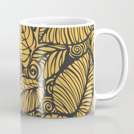 Summer Leaves Gold Coffee Mug