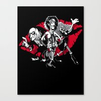 rocky horror Canvas Prints featuring Rocky Horror Gang by Billy Allison