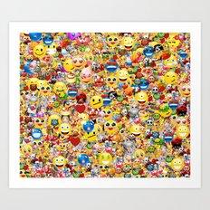 emoji  Art Print